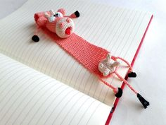 Crochet bookmark bookmark cow funny gifts knitted bookmark cow cute gift crochet cow knitted c Crochet Cow, Crochet Gifts, Cute Crochet, Crochet Animals, Crochet Bookmark Pattern, Crochet Bookmarks, Crochet Patterns, Cow Gifts, How To Make Bookmarks