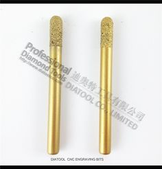 $13.20 (Buy here:  ) 2PCS CNC engraving bits for stone(8/20mm) Ball-end, striaght diamond burrs, vacuum brazed diamond carving bits for just $13.20