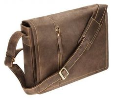 b66f0310557 Visconti Foster Laptop Messenger Bag Oil Tan