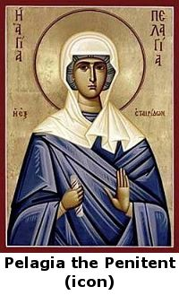 The story of Pelagia the Penitent & Bishop Nonnus- Some things to consider: 1) Do we spend as much time beautifying our souls as we do our bodies? 2) When we look at others, do we see beauty in them, or are we too preoccupied with noticing their sins and imperfections?