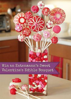 Enter to win an Entenmann's Sweet Valentine's Edible Bouquet prize pack. Everything you need to make an edible bouquet for your favorite Valentine. #ValentinesDay