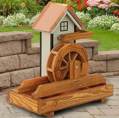 12 Water Wheel House With Water Trough Wood Creations