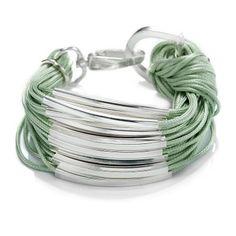 Neon Green Multi Strand Bar Bracelet