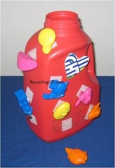 Just one of the many therapeutic activities in The Almost   Complete Plastic bottle Activity Book  http://www.amazon.com/Almost-Complete-Plastic-Activity-ebook/dp/B00AGMVCX6