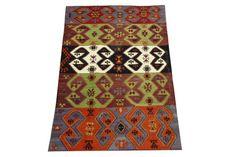 Turkish Oriental Kilim Rug 59 X 36 Handmade by kilimwarehouse, $325.00