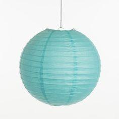 Lampion - Turquoise (25, 30 cm & 40 cm), www.instyledecoraties.nl