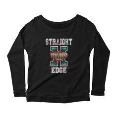 Straight Edge Drug Free Women's Longsleeve Scoopneck Shirt
