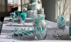 Tiffany Blue Candy Table ~ Baby Shower