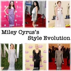 Miley Cyrus's Style Evolution since her debut as Hannah Montana. Miley Cyrus Style, Hannah Montana, Evolution, Celebrity Style
