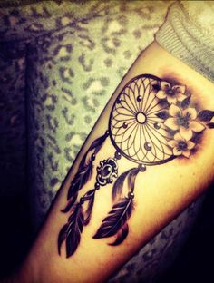 50 Gorgeous Dreamcatcher Tattoos Done Right