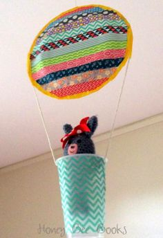 Paper Plate Hot Air Balloon decorated with Washi tape & Paper Plate Hot Air Balloons from Honey Bee Books staple/glue 2 ...