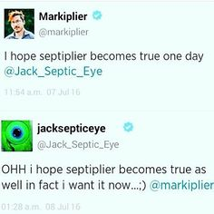 Omg lol they are funny, their just messing with the Septiplier fangirls minds Markiplier, Pewdiepie, Jacksepticeye Memes, Septic Eye, Cryaotic, Youtube Memes, Jack And Mark, Best Youtubers, Dan And Phil