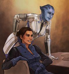 Ashley and Liara Mass Effect Ashley, Ashley Williams Mass Effect, Mass Effect Games, Mass Effect 1, Tomb Raider Cosplay, Original Trilogy, Comic Games, Geek Girls, My Character