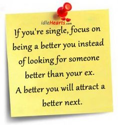 focus on being a better you