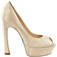 Preowned Yves Saint Laurent Gold Satin Pumps