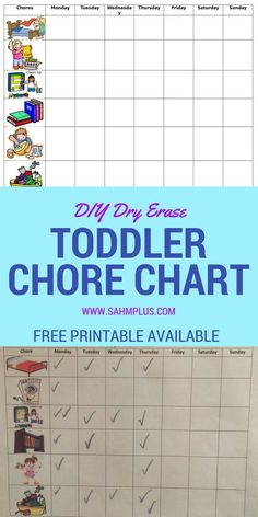 How to Make a Dry Erase Toddler Chore Chart