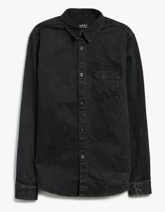 74c8826a3c Denim overshirt from A.P.C. in Black. Pointed collar. Full button front  closure. Chest