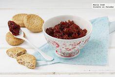 Receta de tamatar chatni o chutney de tomate hindú. Fotografías con el paso a paso del proceso de elaboración. Fotografía con sugerencia de presentación