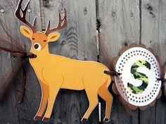 Deer Banner  Deer Birthday Banner  Camo Banner  by CraftyCue
