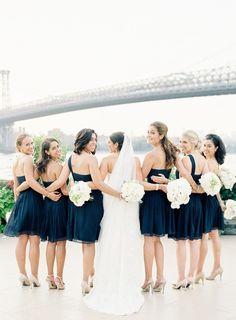 Damas de honor en azul marino