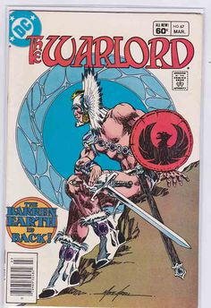 The Warlord March cover by Mike Grell Comic Book Artists, Comic Book Characters, Comic Artist, Comic Character, Comic Books Art, Book Cover Art, Comic Book Covers, Robert E Howard, Dr Fate