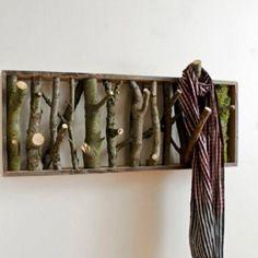 Natural wood hook fixture