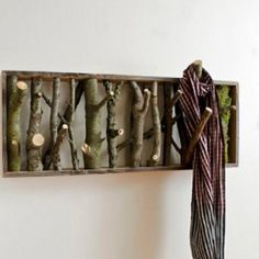 Natural wood hooks