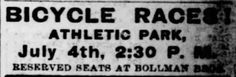Bicycle Racers on July 4th. St. Louis Post-Dispatch of St. Louis, Missouri, On July 2, 1899.  | Victorian America Celebrates Independence Day | KristinHolt.com