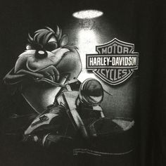 Harley Davidson Motorcycle Mens 3X Looney Tunes T-shirt Greenville, SC Taz Tasmanian Devil, Buggs Bunny and Daffy Duck #harleydavidsonchoppersawesome