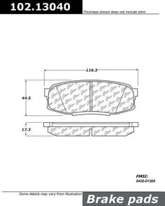 Buy Toyota Land Cruiser Disc Brake Pad Centric 102.13040 - TheAutoPartsShop for as low as $15.17 at TheAutoPartsShop.  Brand : Centric,   Part Number : toyland cruiser/102.13040,  Price : $15.17,  2 Years Warranty, . Get Best Discount Deals for Your Auto Parts, More than 3 Million Parts in The Auto Parts Shop Website. Fitement Year:2011, 2010, 2009, 2008