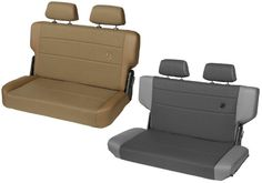 Bestop Jeep Wrangler TrailMax II Fold & Tumble Vinyl / Cloth Rear Bench Seat - CJ / YJ / TJ