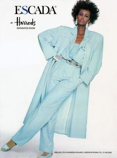 Escada 1985...Kind of feeling this style, all but the gloves and the shoes. Saving this for later.