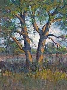 Afternoon Trees  Pastel  by Bob Rohm