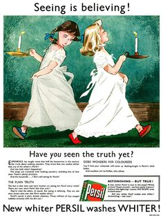 Persil advertisement.    From Illustrated magazine, week ending 28th October, 1950.