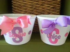 Personalized Hand Painted Girl Bunny Easter Basket Ideas