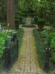 Lovely brick walk thru the gardens in Augusta, GA.  P1100349 by mpdargan1, via Flickr