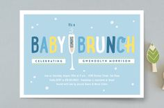 Baby Brunch by Erica Krystek at minted.com