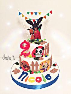 Torta in pdz BING Coelho Bing, 6th Birthday Parties, 2nd Birthday, Bing Cake, Bing Bunny, Festa Pj Masks, Torte Cake, Ideas Para Fiestas, Cupcakes