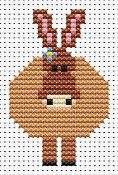 Donkey  hama perler beads pattern