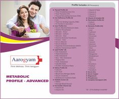 Advance Profile of metabolic Thyrocare With Free Home Sample Collection Package Includes : 98 Tests Online Booking on wefocusoncare Vitamin D2, Vitamin B Complex, Iron Deficiency, Uric Acid, Hdl Cholesterol, Biotin