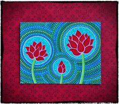 Family of Three Lotus Flower Art Postcard for por ElspethMcLean, $2.50