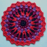 Crochet Mandala Wheel made by Helen, Northumberland, UK for yarndale.co.uk