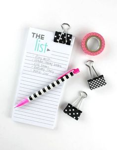 10 Amazing Back To School Washi Tape DIY's - washi tape binder clips - click through to read the rest of the projects