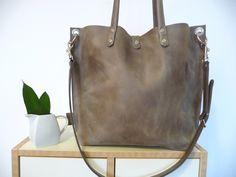 *Emma - Ledertasche Shopper im Vintage-Look!* von Sanumi auf DaWanda.com
