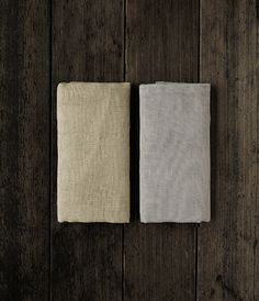 Kaya Face Towels, manually spun yarn and woven linen, by Nakagawa Masashichi Shoten