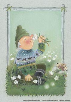 Kaarina Toivanen Winter Illustration, Cute Illustration, Easter Drawings, Funny Drawings, Cool Paintings, Old Postcards, Whimsical Art, Craft Activities, Vintage Art