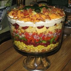 Southwestern Cornbread Layered Salad Recipe