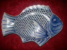 Imari Sometsuke fish plate, c. 1860