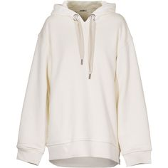 ACNE Bit Double Bone White Cotton hoodie ($255) ❤ liked on Polyvore featuring tops, hoodies, sweaters, jackets, outerwear, hooded sweatshirt, cotton hoodies, sweatshirt hoodies, white cotton tops and white hoodie