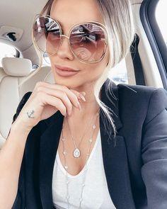 """3,498 curtidas, 38 comentários - Bianca Petry (@bianca_petry) no Instagram: """"Como eu amo um macacão ❤ Modelo lindo da @goldendress . . . #black #jumpsuit #biancapetry"""" Round Lens Sunglasses, Summer Sunglasses, Cat Eye Sunglasses, Sunglasses Women, Luxury Sunglasses, Vintage Sunglasses, Oversized Sunglasses, Fake Glasses, Girls With Glasses"""
